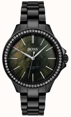 BOSS | dameshorloge van zwart roestvrij staal | 1502456