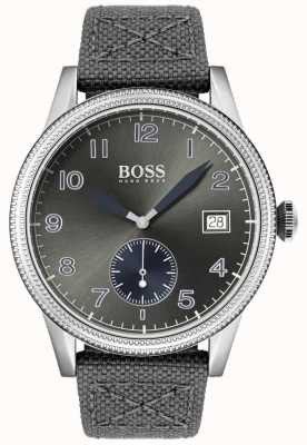 Boss | heren grijze canvas riem | legacy horloge | 1513683