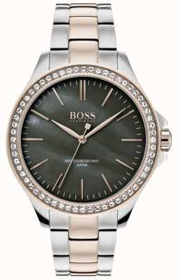 Boss | dames two tone roestvrij stalen armband | 1502452