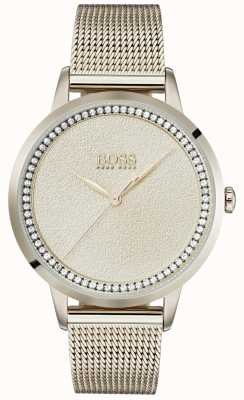 BOSS | bleke roségouden damesarmband van mesh | Ex display 1502464 EX-DISPLAY