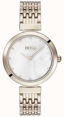 Boss | dames lichtroze gouden metalen armband | 1502480
