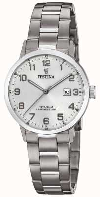 Festina | titanium dameshorloge | zilveren wijzerplaat | titanium armband | F20436/1