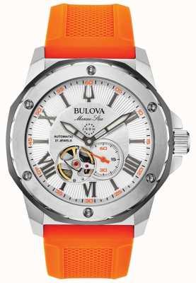 Bulova | heren | mariene ster | automatisch | oranje rubberen band | 98A226