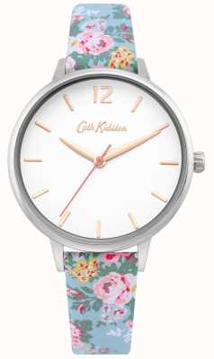 Cath Kidston | dames lichtblauwe bloemenriem | witte wijzerplaat | CKL067U
