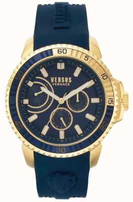Versus Versace | mens aberdeen | blauwe rubberen riem | blauwe wijzerplaat | VSPLO0219
