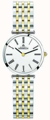 Michel Herbelin | dames | epsilon | tweekleurige extra platte armband | 17116/BT01N