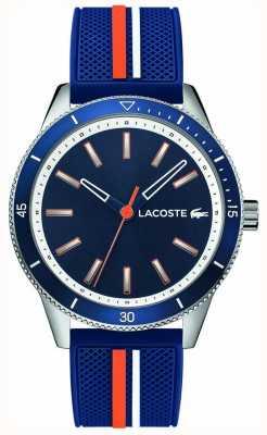 Lacoste | mens key west | blauwe siliconen riem | blauwe wijzerplaat | 2011007