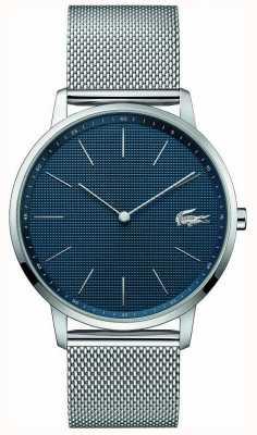 Lacoste | mens maan | stalen gaas armband | blauwe wijzerplaat | 2011005