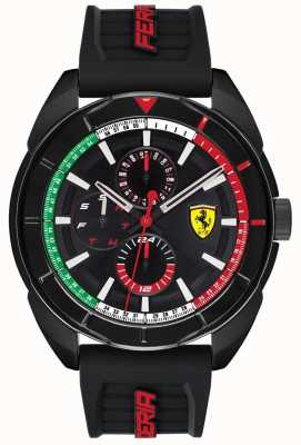 Scuderia Ferrari | heren forza | zwarte rubberen band | zwarte chronograaf wijzerplaat | 0830577