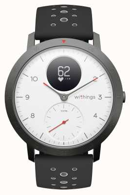 Withings Steel hr sport 40mm witte wijzerplaat zwarte siliconen band HWA03B-40WHITE-SPORT-ALL-INTER