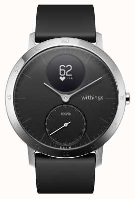 Withings Stalen hr 40mm zwarte siliconen band HWA03B-40BLACK-ALL-INTER