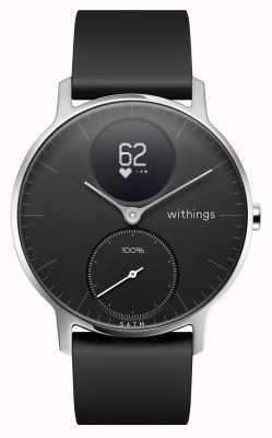 Withings Stalen hr 36mm zwarte siliconen band HWA03B-36BLACK-ALL-INTER