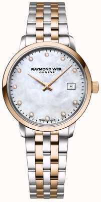 Raymond Weil | toccata diamant voor vrouwen | tweekleurig roestvrij staal | 5985-SP5-97081