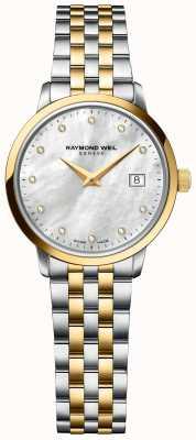 Raymond Weil toccata diamant voor vrouwen | tweekleurige roestvrijstalen armband 5985-STP-97081