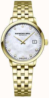 Raymond Weil | toccata diamant voor vrouwen | gouden armband in edelstaal | 5985-P-97081