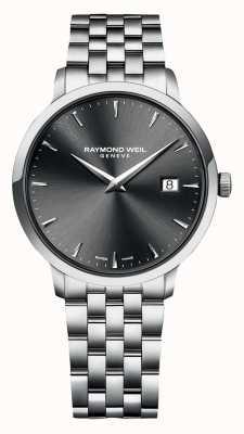 Raymond Weil   mens toccata   roestvrijstalen armband   grijze wijzerplaat   5485-ST-60001