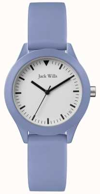 Jack Wills | dames blauwe rubberen riem | witte wijzerplaat | JW008LTBL