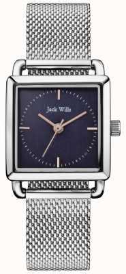 Jack Wills | dameshorloge met stalen horlogebanden | blauwe wijzerplaat | JW016NVSL
