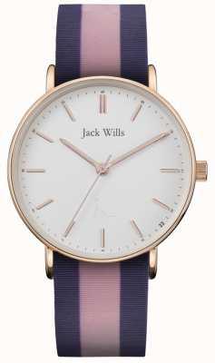 Jack Wills | dames sandhill twotone siliconen riem | witte wijzerplaat | JW018PKBL