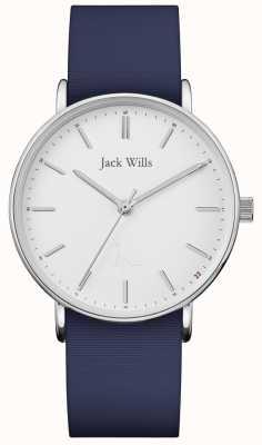 Jack Wills | dames sandhill blauwe siliconen riem | JW018WHNV