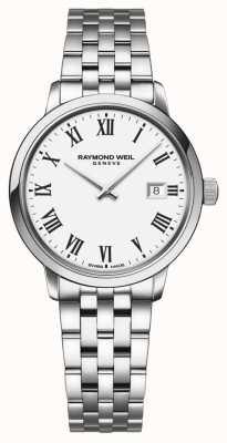 Raymond Weil | dames toccata roestvrijstalen armband | witte wijzerplaat | 5985-ST-00300