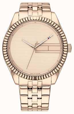 Tommy Hilfiger | dames roségouden roestvrij stalen armband | rosé goud dia 1782082
