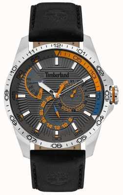 Timberland | heren Oakham horloge | zwarte lederen band | grijze wijzerplaat | 15641JS/13