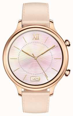 TicWatch C2 | roségoud smartwatch | lederen band 131584-WG12056-RG