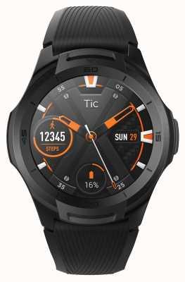 TicWatch S2 | middernacht smartwatch | zwarte siliconen band 131585-WG12016-BLK