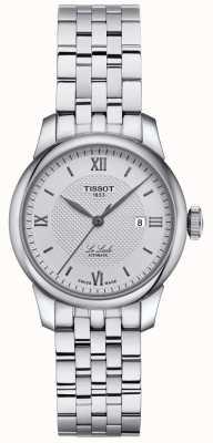 Tissot | dames le locle | roestvrijstalen armband | zilveren wijzerplaat | T0062071103800