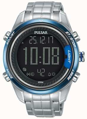 Pulsar Heren digitale roestvrij stalen armband P5A003X1
