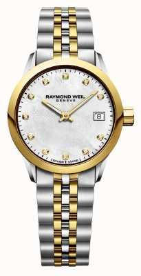 Raymond Weil Freelancer diamanten tweekleurig roestvrij staal voor dames 5626-STP-97081