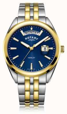 Rotary | heren henley | blauwe wijzerplaat | roestvrij stalen armband | GB05291/05