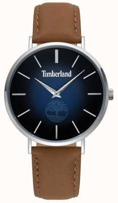 Timberland | mens rangeley | bruin leer | blauwe wijzerplaat | 15514JS/03