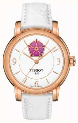 Tissot Stropdassen powermatic 80 witte lederen hartjes voor vrouwen T0502073701705