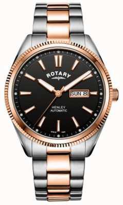 Rotary | heren henley | gekartelde ring | roestvrij stalen band | GB05382/04
