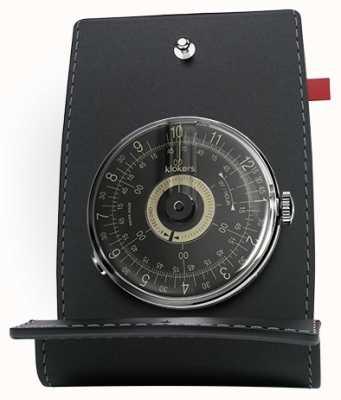 Klokers Klok 08 zwart wijzerplaat horloge bureau en zak KLOK-08-D3+KPART-01-C2