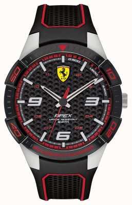 Scuderia Ferrari | heren top | zwarte rubberen riem | zwarte wijzerplaat | 0830630