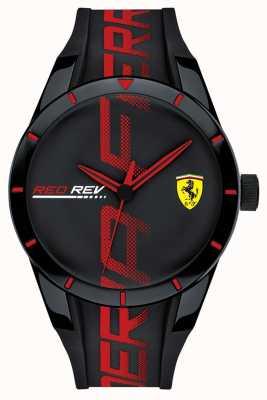 Scuderia Ferrari | redrev | zwart / rode siliconen band | zwarte wijzerplaat | 0830614