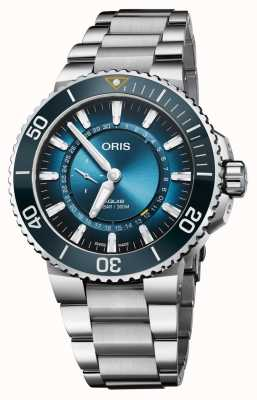 Oris Aquis great barrier reef iii limited edition automatisch horloge 01 743 7734 4185-SET