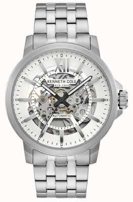 Kenneth Cole | automatische heren | roestvrijstalen armband | zilveren wijzerplaat | KC50779005