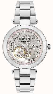 Kenneth Cole | automatische dames | roestvrijstalen armband | zilveren wijzerplaat KC50799001