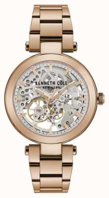 Kenneth Cole | automatische dames | rosegouden armband | rose gouden wijzerplaat | KC50799002