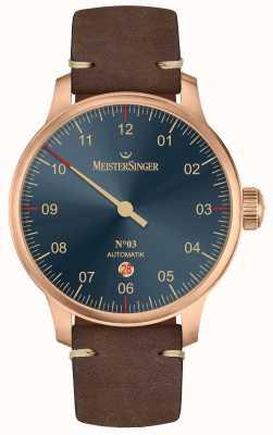 MeisterSinger Bronzen lijn nr. 03 donkerbruin kalfsleer AM917BR