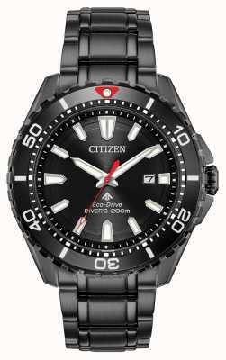 Citizen Heren promaster duiker eco-drive zwart pvd verguld BN0195-54E