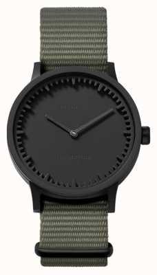 Leff Amsterdam | buis horloge | t32 | zwart | grijze nato band | LT74252