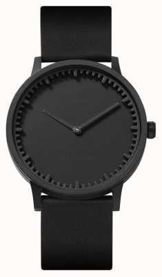 Leff Amsterdam | buis horloge | t40 | zwart | zwarte lederen band | LT75212