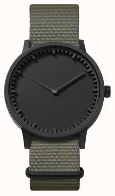 Leff Amsterdam | buis horloge | t40 | zwart | grijze nato band | LT75252