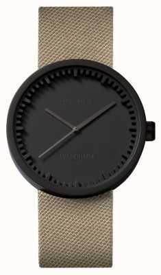 Leff Amsterdam | buis horloge | d38 | zwart | zand coedura riem | LT71013