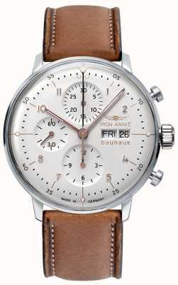 Junkers Iron annie | bauhaus | automatisch | chronograaf | witte wijzerplaat 5018-4
